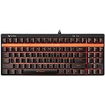 Rapoo vPro v500s tenkeyless Gaming Mecánica Teclado con retroiluminación (mecánico Switches, Botones programables, de disposición QWERTZ) Negro