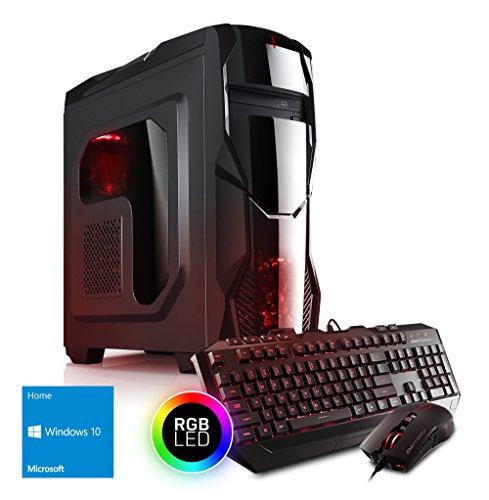 Kiebel AMD Ryzen 7 Gaming PC Bundle mit AMD Ryzen 7 2700 8x3.2GHz (Turbo bis 4.1GHz), nVidia GTX 1660 6GB, 16GB DDR4, 240GB SSD + 1TB, Gaming Maus Tastatur, Gamer Computer Spiele PC [185064] (Inspiron Desktop Windows 7)