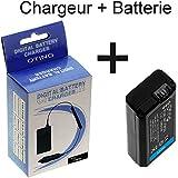 Lot Chargeur de Batterie + Batterie Haute Capacité Type Sony FW-50 pour Sony Alpha 6000, Sony Alpha 5000, Sony Alpha RX10, Sony Alpha 7R, Sony Alpha 7, Sony Alpha 33, Sony Alpha 35, Sony Alpha 37, Sony Alpha 55, SONY NEX-3 toutes versions, SONY NEX-5 toutes versions, SONY NEX-6 toutes versions, SONY NEX-7 toutes versions, SONY NEX-C3 toutes versions, SONY NEX F3 toutes versions