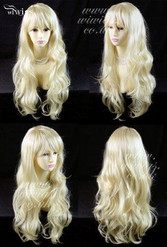 Sexy Beautiful Layered wavy Pale Blonde Long Ladies Wigs Heat Resistant Wig UK