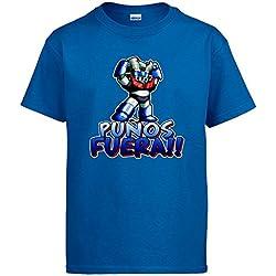 Camiseta Mazinger Z puños fuera - Azul