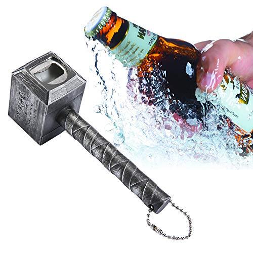 niceEshop Bier Flaschenöffner, Hammer von Thor Flaschenöffner lustig Bier, Silber