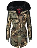Marikoo Damen Winter Mantel Parka Larissa Camouflage Gr. M