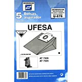 Distribuidora Ersa. 910676 - Bolsa aspirador papel ufesa at7505 thogar 5 pz 910676