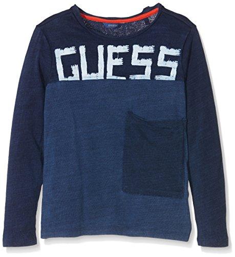 guess-ls-l64i2000i06-t-shirt-garcon-bleu-ingo-indigo-xxl