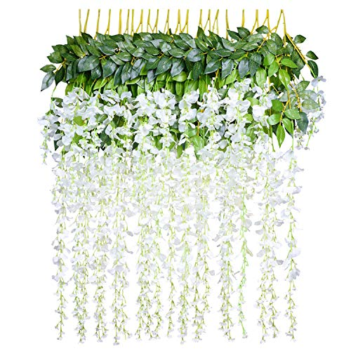12 Piezas Flores Artificiales Plantas Decoración