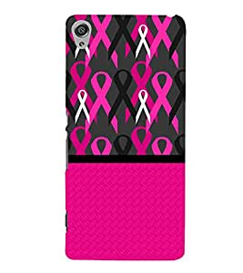 Fiobs Designer Back Case Cover for Sony Xperia XA :: Sony Xperia XA Dual (Multipattern Pink Design)