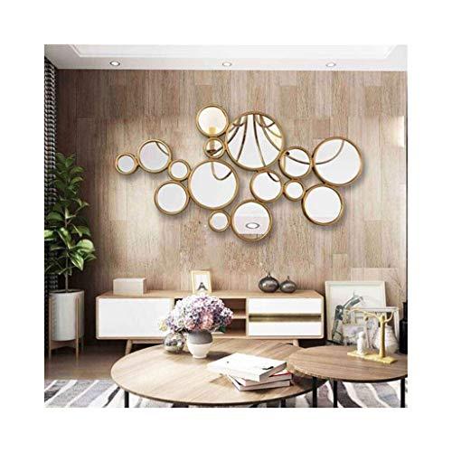 GWFVA Spiegel Kreative Riesige 100x55 cm Kreise Wand Skulptur Kunst Wandbehang D \u0026 Eacute; cor3 - Kreise-wand-skulptur