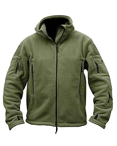Mens Military Army Combat Recon Hoodie US British Fleece Hoodies Sweat Shirt Zip Jacket Smock New (XXL = Chest 48-50