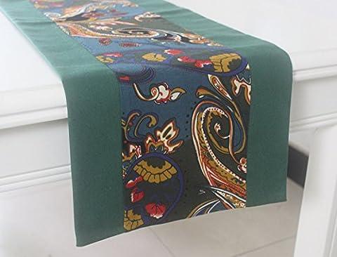 JY$ZB Europäische Hochzeit nach Hause Dekoration Tuch Beflockung Tischfahne / Bed Flagge / Tischtuch für Haus Versammlungen Restaurant Hotel , 33*220cm