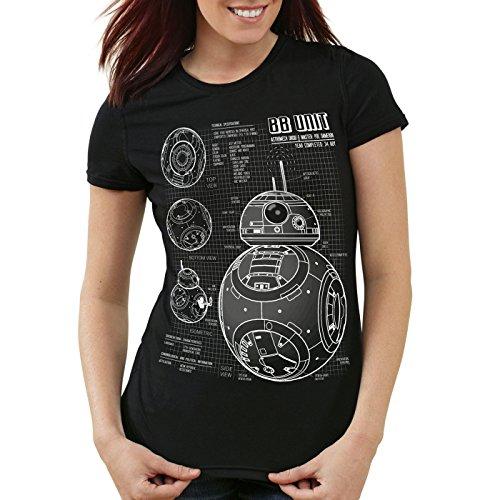 A.N.T. BB Unit T-Shirt Femme dessin ble Noir