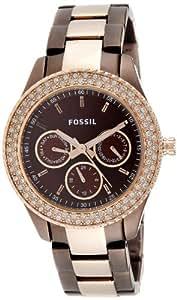 Fossil End-of-season Stella Analog Brown Dial Women's Watch - ES2955