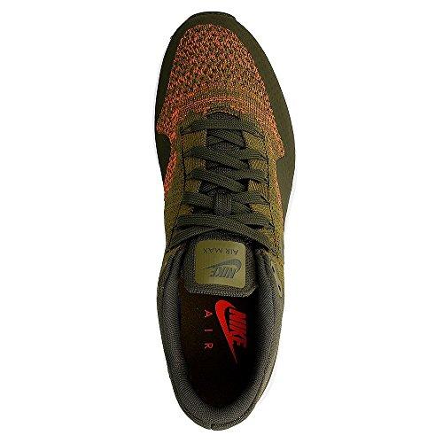 Nike Air Max 1 Ultra Flyknit, Chaussures de Running Entrainement Homme, Orange, 45 EU Vert (Olive Flak / Cargo Khaki-Cargo Khaki-White)