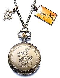 ShopyStore Rabbit 2017 Hot Xmas Gift Fashion Theme Alice In Wonderland Pocket Watch Clock Pendant