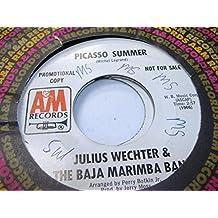 JULIUS WECHER & THE BAJA MARIMBA BAND 45 RPM Picasso Summer / Samba Neuvo