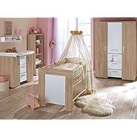 Preisvergleich für Babyzimmer Michi Komplett Sets verschiedene Ausführungen (Babyzimmer Michi 6-teilig, Eiche-Sägerau)