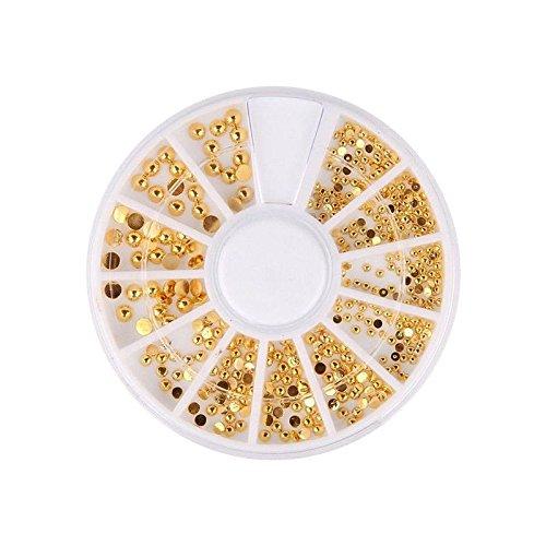 Strasssteine de Glitter Gold für Nagel Kunst Dekorationen, Gemischte Größe