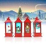 Suprcrne Luce Notturna a LED, Simpatiche Lanterne di Luce D'atmosfera Fai da Te di Babbo Natale Puntelli della Decorazione della Festa Domestica del Bar Regalo di Natale