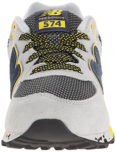 New Balance Classic Traditionnels Grey Black Youths Trainers - KL5749TG  Grey Black ...