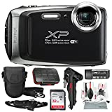 Fujifilm FinePix XP130 Waterproof & Shockproof Wi-Fi Digital Camera (Silver) with 32GB Card, Stable Tripod, Protective Camera Case, Xpix Cleaning Kit, and Deluxe Bundle