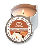 Bougies Shop–Massagekerze 160g–hergestellt in Frankreich Vanille Noisette