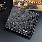 GENGXINLIN Wallet Geldbörse Herren Geldbörse Geld Tasche Fashion Pu Soft Männlichen Geldbörse Kartenhalter Hasp Coin Pocket Slim Geldbeutel Brieftasche
