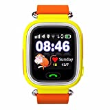 #3: S. Gadgets Smart Watch for Kids (WIFI), GPS Tracker Sim Card Smartwatch Phone Anti-lost Finder with SOS Call Children Wristwatch Fitness Tracker Bracelet with Parents Control App for Android IOS (Yellow)
