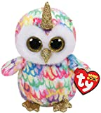 TY 36253 Enchanted, Eule mit Horn 15cm Beanie Boo's, Mehrfarbig