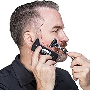 beard grooming kit butyface beard styling tool shaping template for using beard timmer to. Black Bedroom Furniture Sets. Home Design Ideas