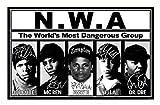 Ice Cube & MC Ren & Eazy E & Yella & Dr Dre - NWA Signiert Autogramme 21cm x 29.7cm Plakat Foto
