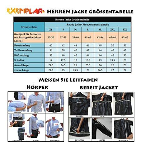 Exemplar KL341 Herren Lederjacke, Lammleder, Schwarz - 4