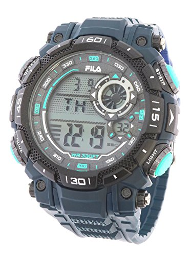 Fila sportliche Herrenuhr Digital 10 BAR Licht Alarm 38-826-002