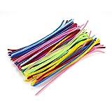 100pcs chenille Craft cure-pipes Jouets pour enfants créatifs pour enfants en peluche Twist Barres Tuyau 0.6 * 30cm Couleur vive
