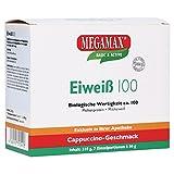 Megamax Eiweiss Cappuccino. Molkenprotein + Milcheiweiß Eiweiß Protein mit Biologischer Wertigkeit ca. 100. Für Muskelaufbau und Diaet. Inhalt: 7 x 30 g
