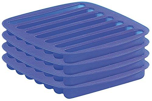 Rosenstein & Söhne Eiswürfelform: 7-fach Silikonform fürStab-Eis 4er-Set, Ideal für Flaschen (Eiswürfel-Bereiter)