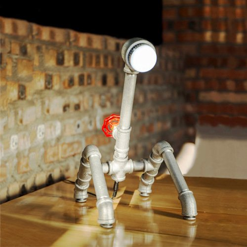 Pointhx American Industrial Deco Silver Water Pipe for sale  Delivered anywhere in Ireland