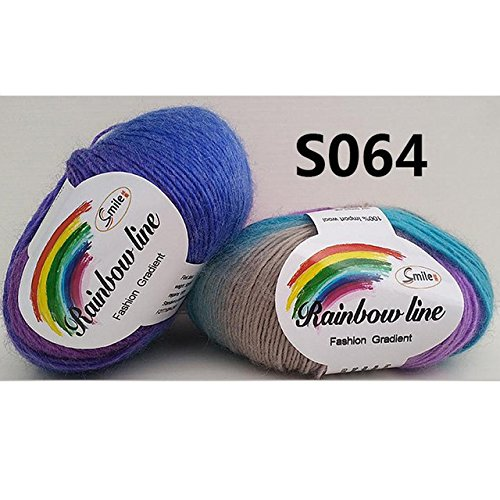 Generic 50g Soft Wool Yarn Gradient Rainbow Color Sewing DIY Cloth-Color 12