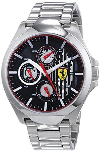 Scuderia Ferrari Unisex Multi Zifferblatt Quarz Uhr mit Edelstahl Armband 830508