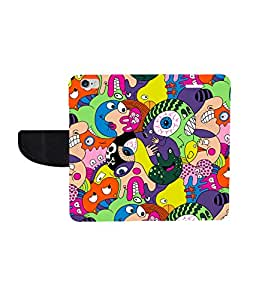 KolorEdge Printed Flip Cover For Apple iphone 6 - Multicolor( KEmLOGO5035Iphone6 )