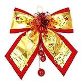 H-M-STUDIO WeihnachtsschmuckGroße FliegeGold Schmuck AnhängerGoldene BogenGlockeGroße Tuch Krawatte 35Cm