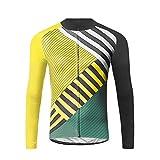 Uglyfrog Plaid-Malerei Designs Herren Winter Fahrradtrikot Langarm Pro Radtrikot Funktionsunterwäsche/Fahrrad Shirt
