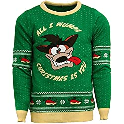 Official Crash Bandicoot Christmas Jumper / Ugly Sweater - UK XL / US L
