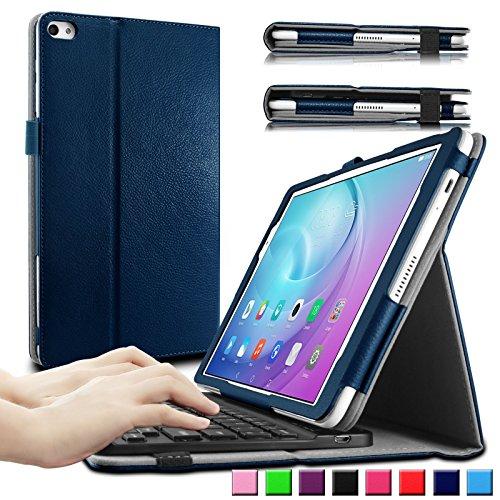 HuaWei MediaPad T2 10.0 Pro keyboard Tastatur Hülle, Infiland Bluetooth Tastatur Ultradünn leicht Shell Ständer Schutzhülle mit magnetisch abnehmbar drahtloser Bluetooth Tastatur für Huawei MediaPad T2 10.0 Pro 25,7 cm (10,1 Zoll) IPS Tablet PC(QWERTZ Tastatur,Dunkleblau)