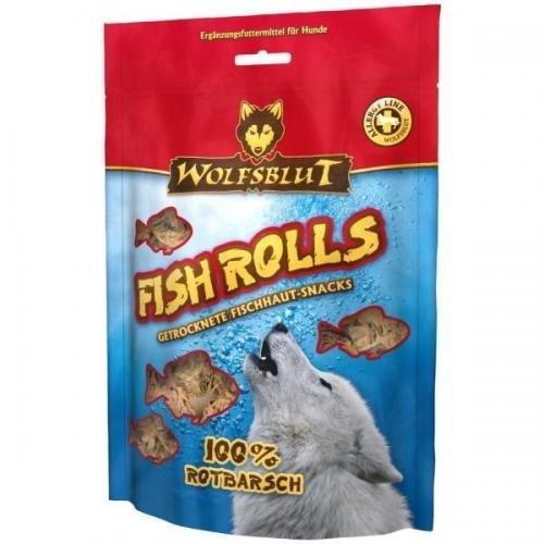 Wolfsblut Snack Fish Rolls Rotbarsch 100g, Leckerli, Kauknochen