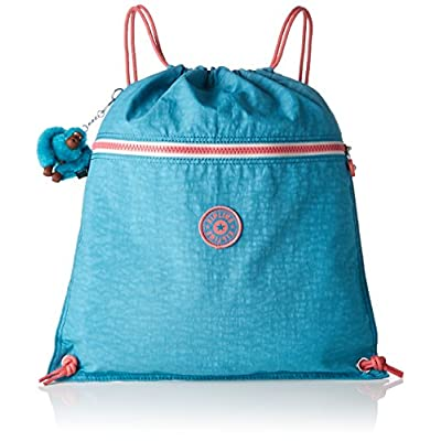 Kipling Supertaboo Kid's Sports Bag, 45 cm, 15 liters, Turquoise (Bright Aqua C) - childrens-sports-bags, childrens-bags