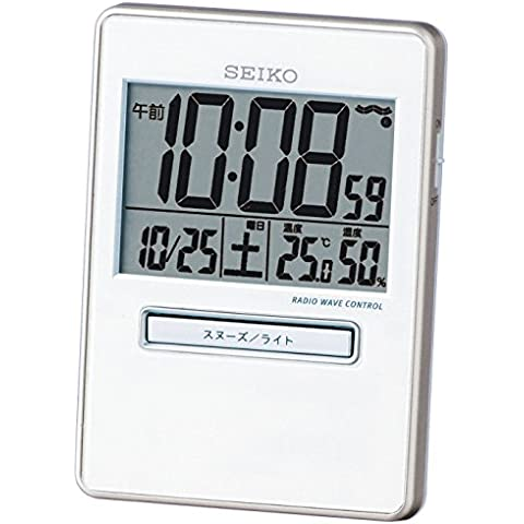 SEIKO CLOCK (Seiko) tiger Bella digital radio clock Twin performance white pearl SQ699W