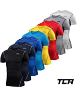 Mens & Boys TCA Pro Performance Compression Base Layer Short Sleeve Thermal Top