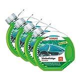 4x SONAX 03864000 Scheibenreiniger Konzentrat Green Lemon 3L