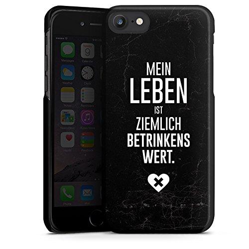 Apple iPhone X Silikon Hülle Case Schutzhülle Party Feiern Sprüche Hard Case schwarz