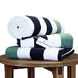 Laguna Beach Towel Company Strandtuch Handtuch Plüsch Midnight Blue &
